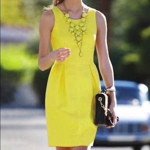 J. Crew Yellow Basket Weave Dress g671